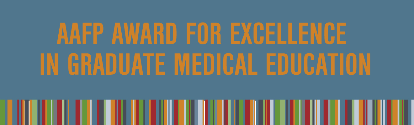 AAFP Award for Excellence in Graduate Medical Education Logo