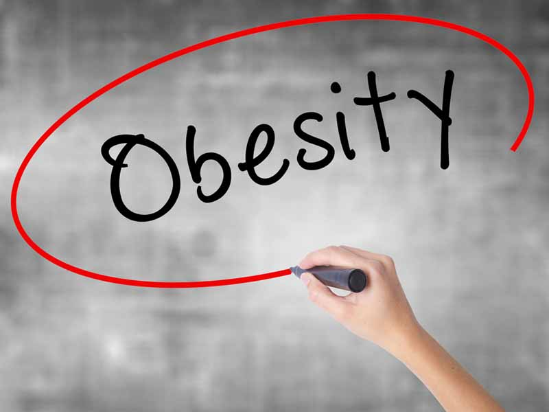 hand writing obesity in virtual space