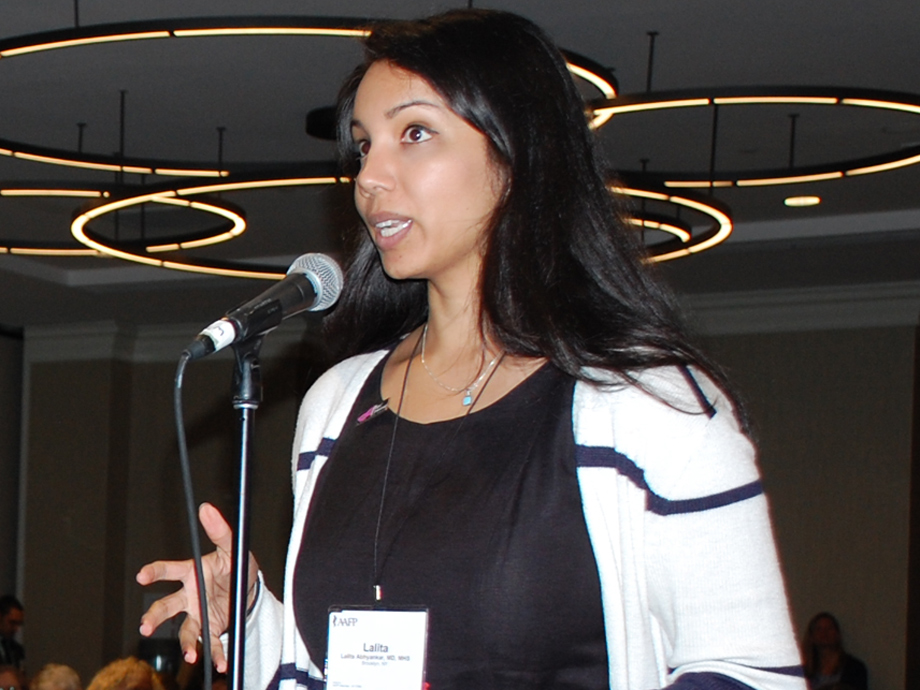 Lalita Abhyankar, M.D., M.H.S., testifies during the 2018 COD