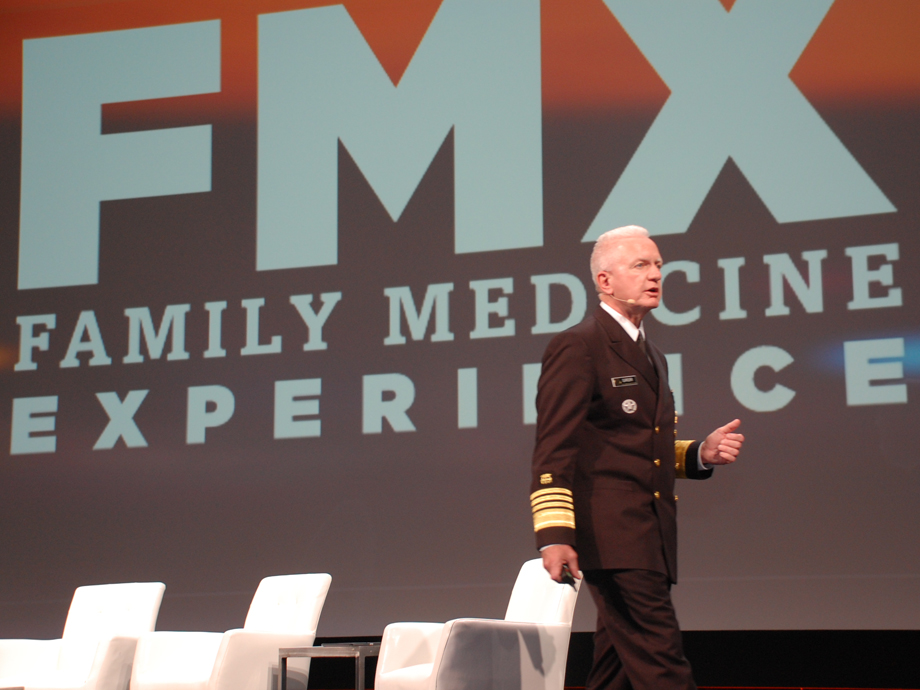 HHS Assistant Secretary for Health Brett Giroir, M.D., speaks about opioids during the 2018 FMX