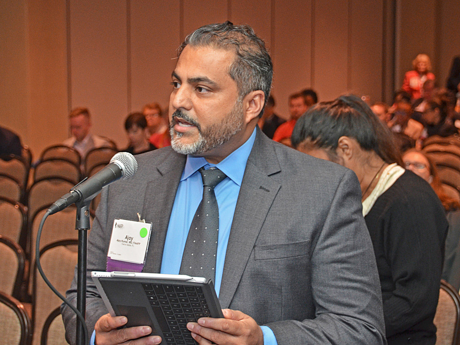 Florida AFP delegate Ajoy Kumar, M.D., testifies during the 2018 COD