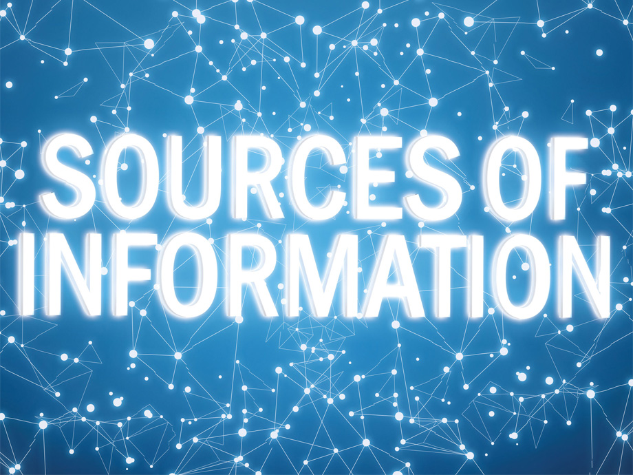 sources of information text and stars
