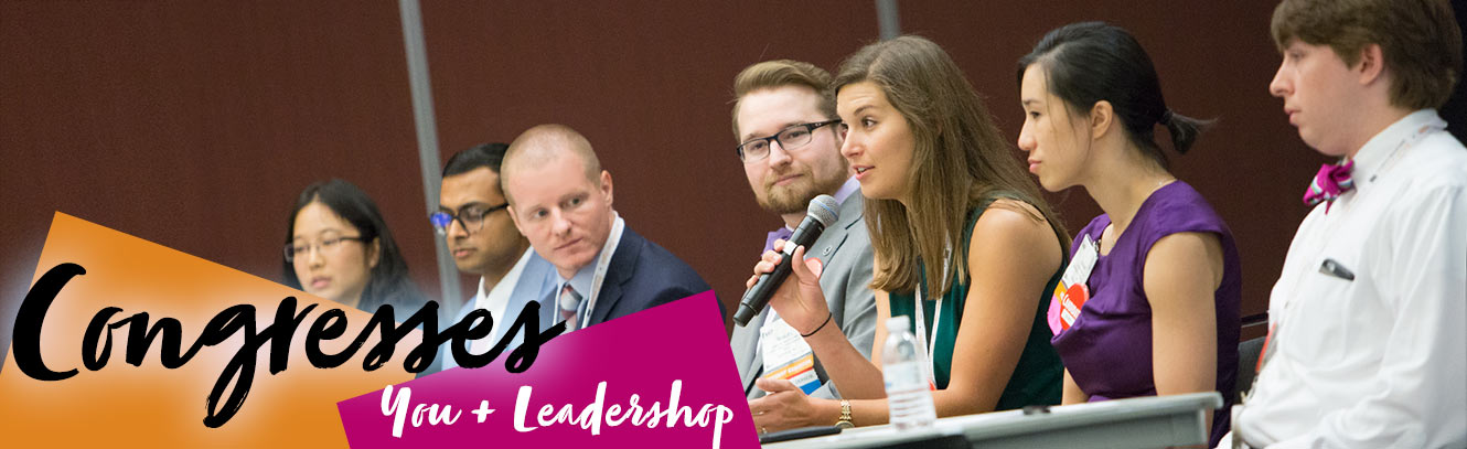 Congresses = You + Leadership