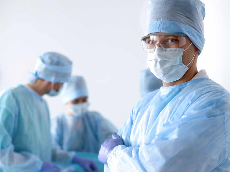 physicians in personal protective equipment