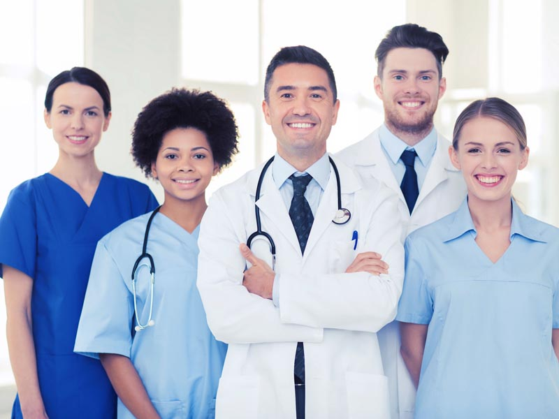 diverse group of physicians